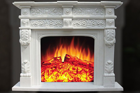 Factory Georgian white marble fireplace mantel on sale