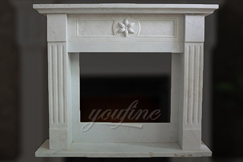 2017 indoor modern Regency white marble fireplace surround for sale