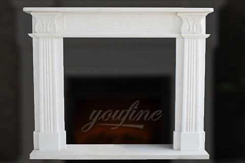 Factory customized indoor Regency marble fireplace frame on sale