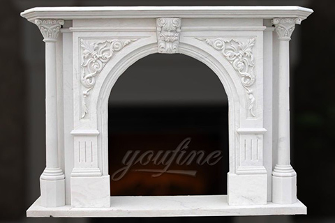 Decorative Victorian lion head marble fireplace surround for sale
