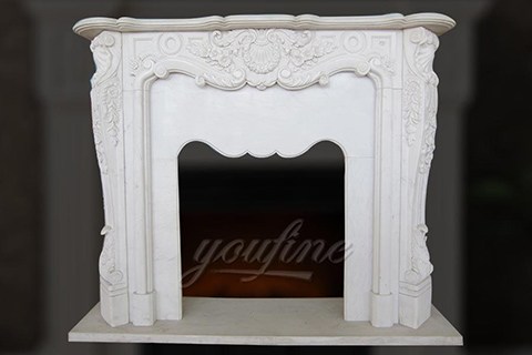 Hot sale decorative French style marble stone fireplace