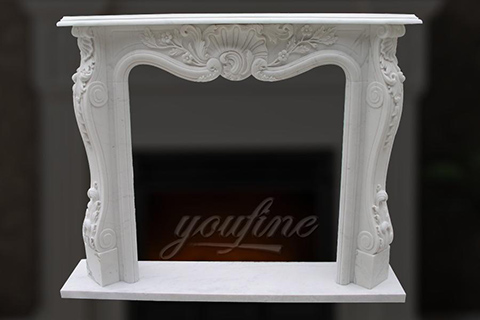 Hot sale decorative french white marble fireplace frame