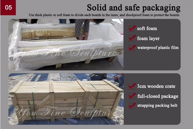 solid and safe packing of fireplace